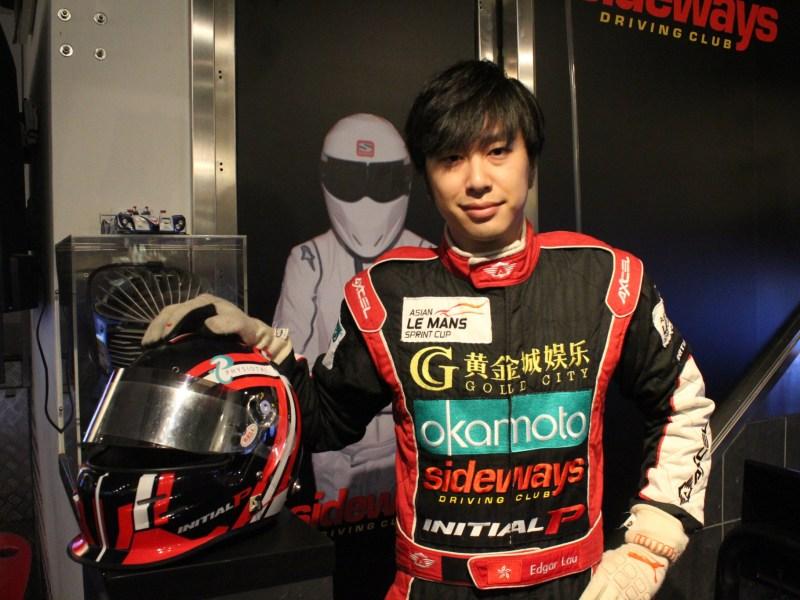 Edgar Lau gets ready for Macau Grand Prix. Photo: Poo Yee Kai