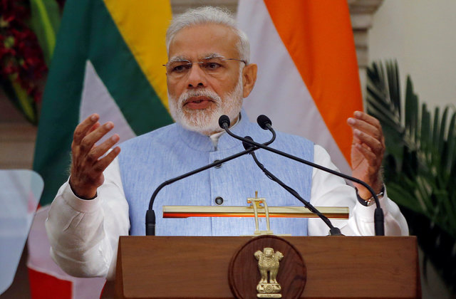 Indian Prime Minister Narendra Modi's government announced the TV ban just a day after he had attended a media awards ceremony and hailed freedom of the press. Photo: Reuters/Adnan Abidi