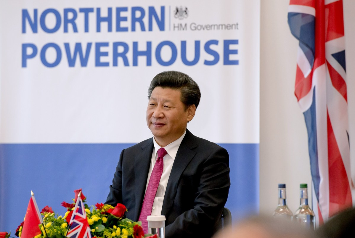 Chinese President Xi Jinping listens to a speech during his visit to Britain's National Graphene Institute at the University of Manchester in Manchester in October of 2015. Photo: AFP/Richard Stonehouse
