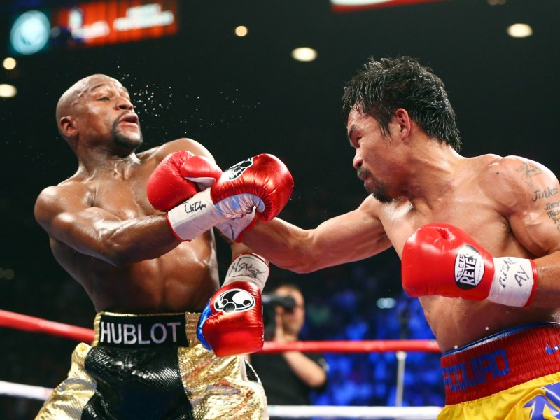 Once again, gentlemen? Mayweather's appearance ringside at Pacquiao's November 5 WBO title fight has stirred speculation of a rematch.