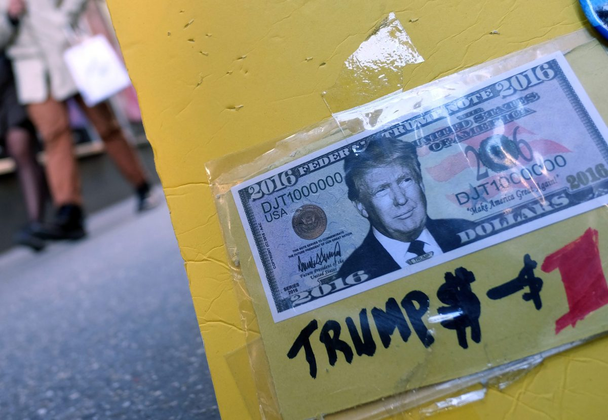 The dollar has strengthened since Donald Trump's election. Photo: AFP / Jewel Samad