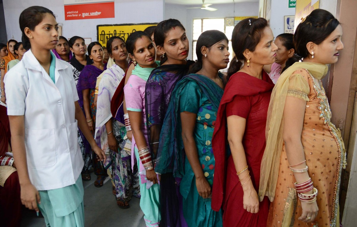Pregnant Indian women wait for a check-up at a government hospital in Amritsar. Photo: AFP