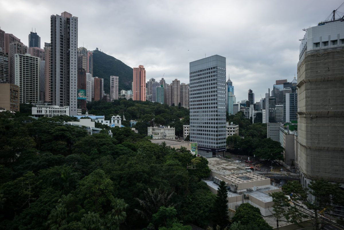 A view of commercial and residential buildings in Hong Kong on November 24, 2016. Photo: Anthony Wallace/AFP