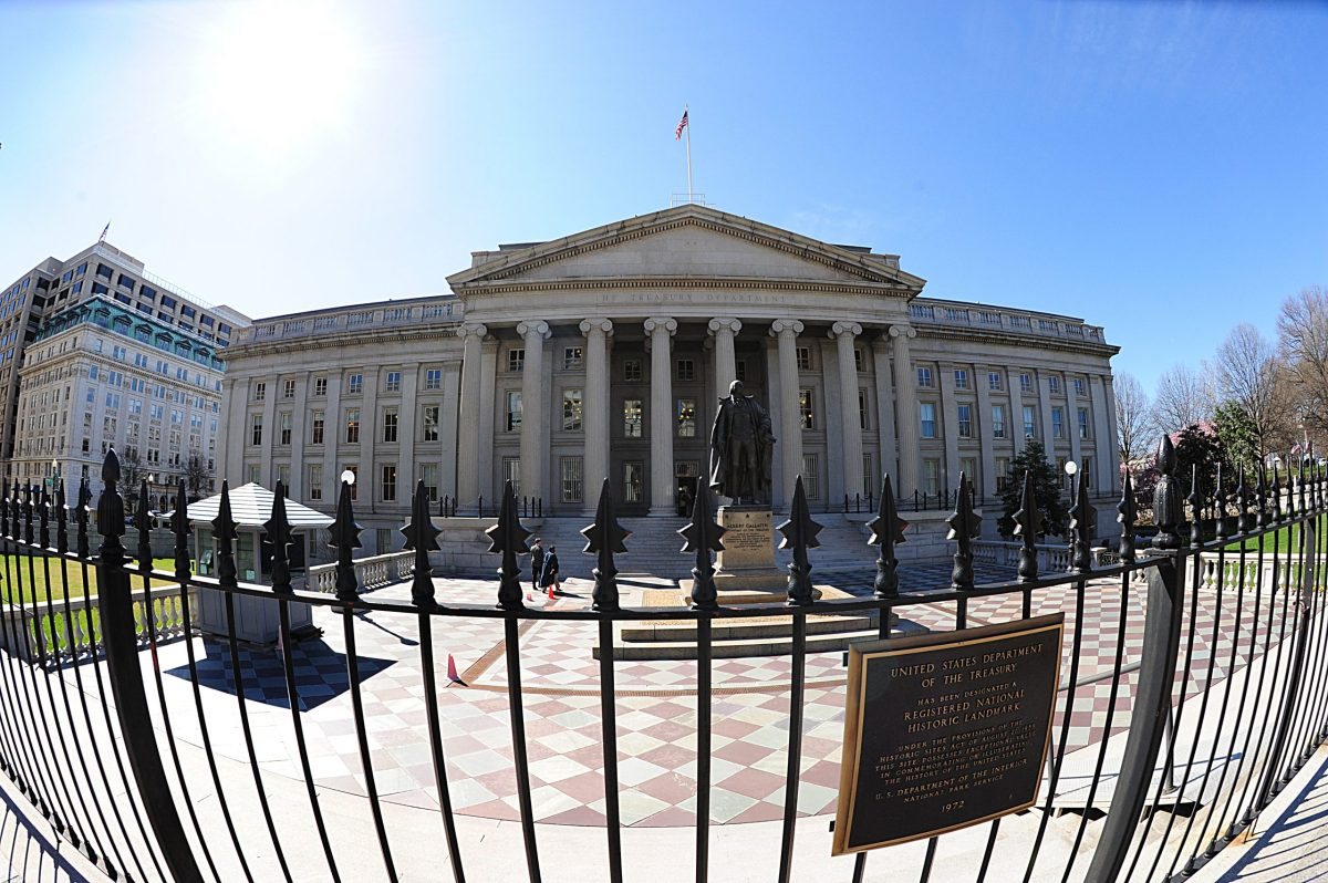 The US Treasury building in Washington, DC. Photo: AFP