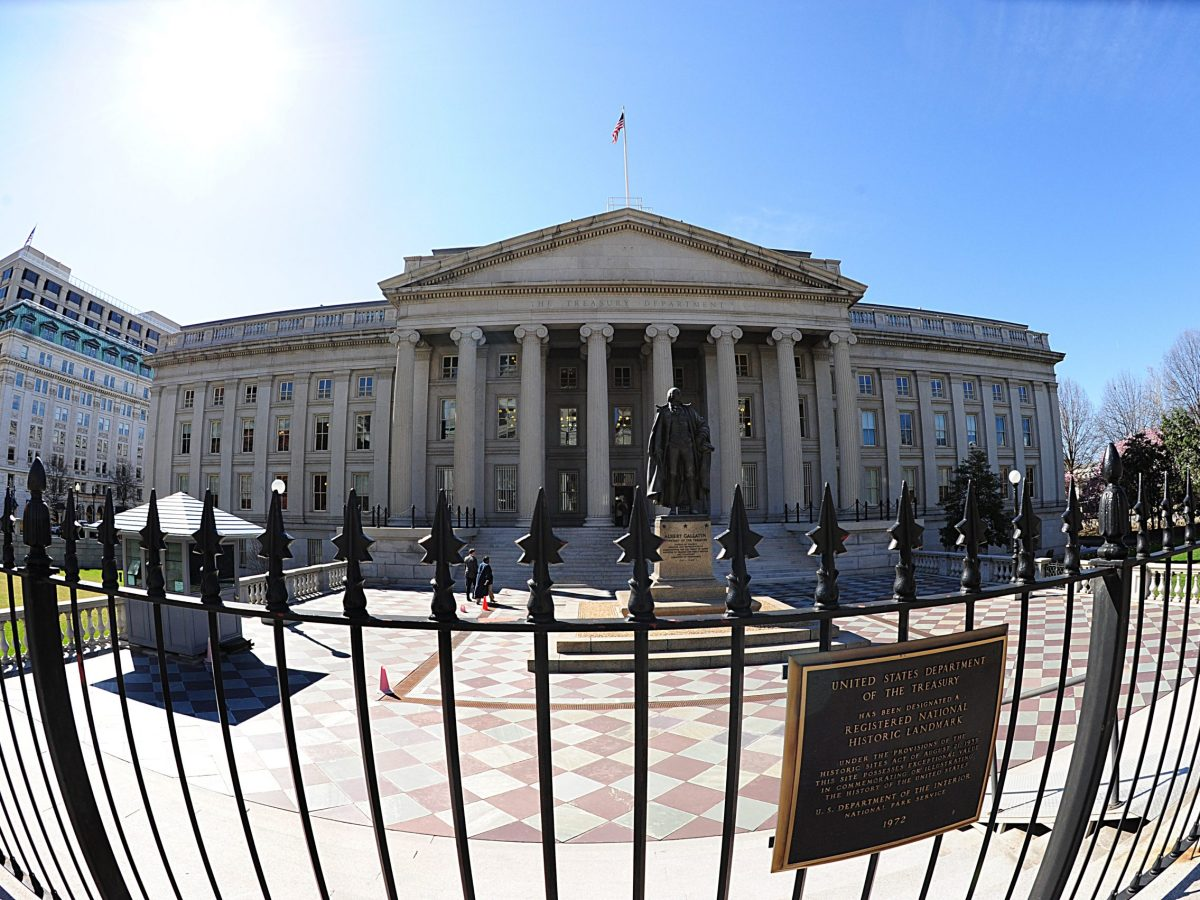 The US Treasury building in Washington, DC. Photo: AFP