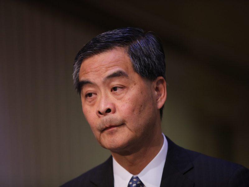 Hong Kong Chief Executive Leung Chun-ying will not seek a second term. Photo: AFP
