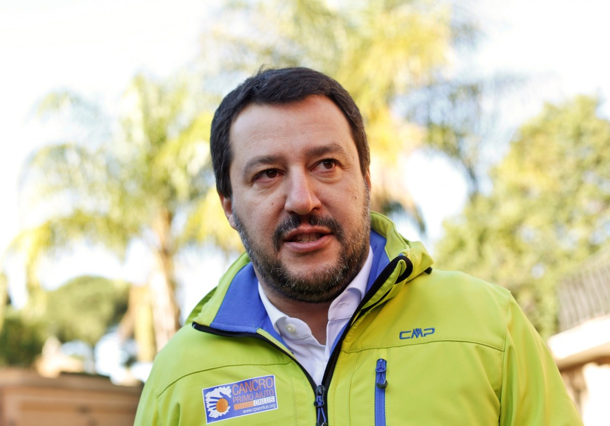 Northern League party leader Matteo Salvini. Photo: Reuters/Tony Gentile