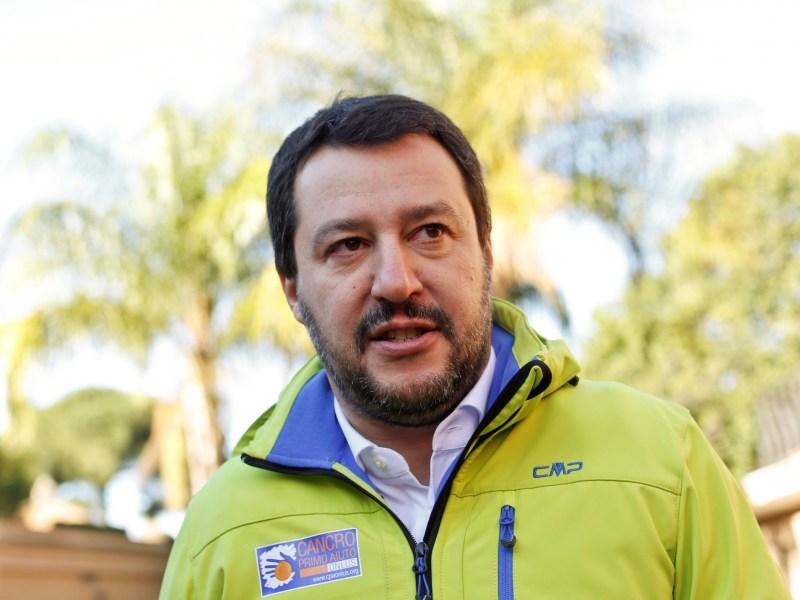 Northern League party leader Matteo Salvini. Photo: Reuters/Tony Gentile