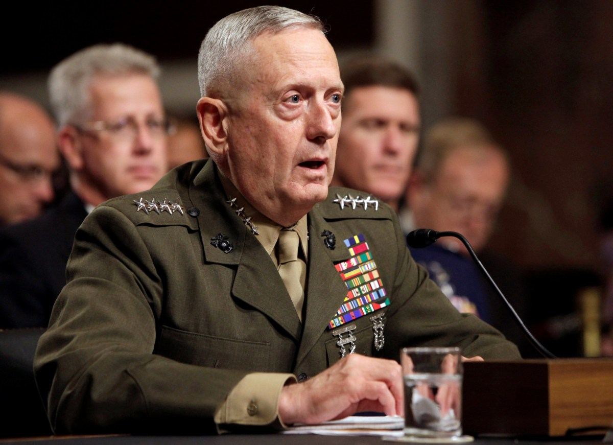 General James Mattis testifies before the Senate Armed Services Committee hearing on Capitol Hill in Washington July 27, 2010, on his nomination to be Commander of US Central Command. Photo: Reuters/Yuri Gripas