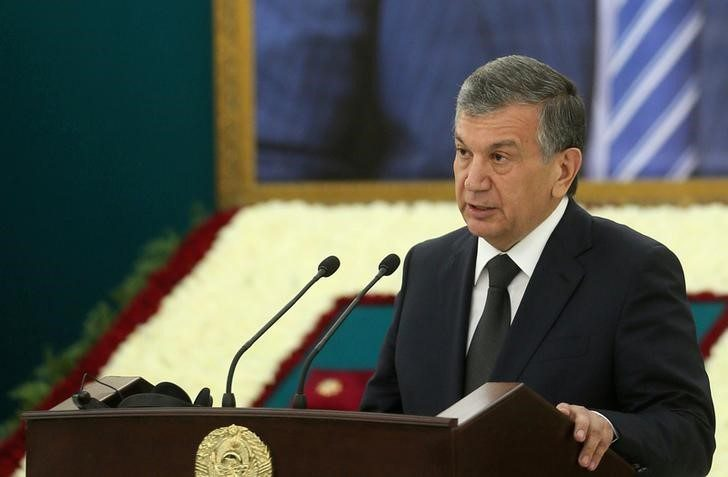 A file photo of Uzbekistan President Shavkat Mirziyoyev from September 2016. Photo: Georgy Kakulia/Press Service of Georgian Govt/ via Reuters