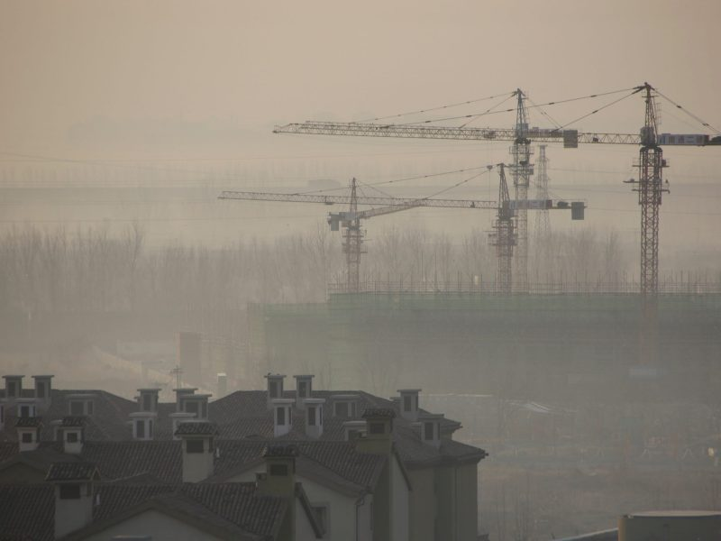 Air appears to be escaping the property bubble. Photo: Reuters