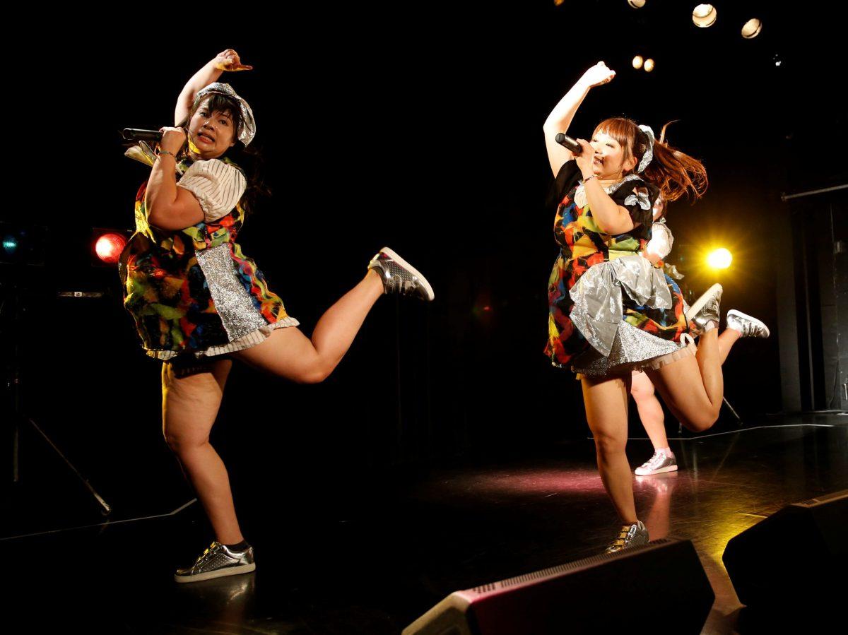 Members of Japan pop group Pottya do their thing. Reuters/Kim Kyung-Hoon