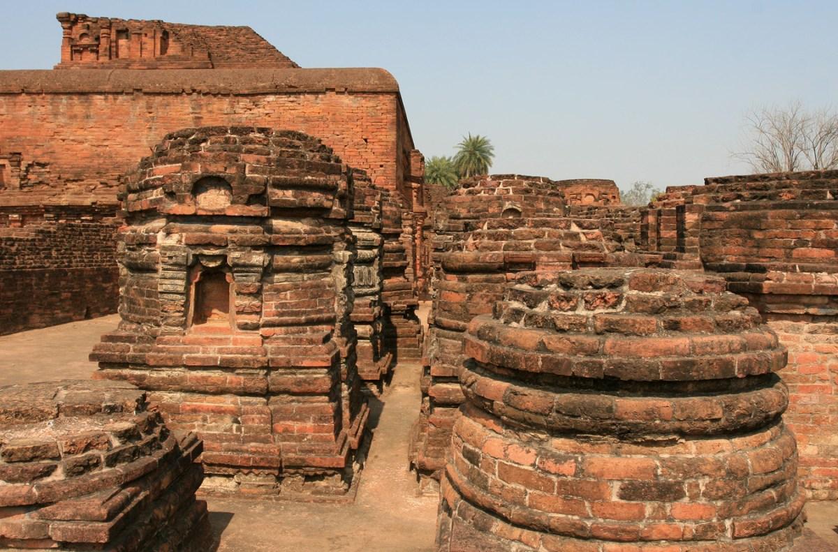 Nalanda University temple ruins in India. Photo: Carol Mitchell via Flickr., CC license.