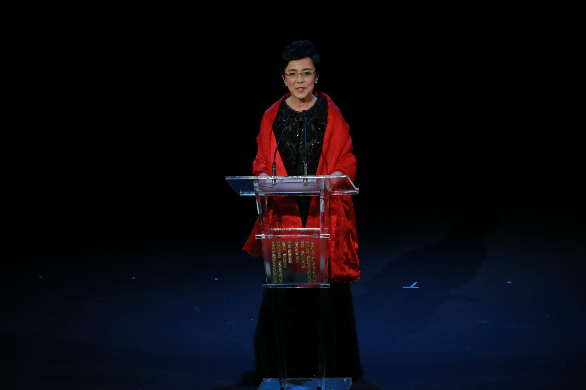Maria Helena de Senna Fernandes, acting director, speaks at IFFAM's opening ceremony. Photo: IFFAM