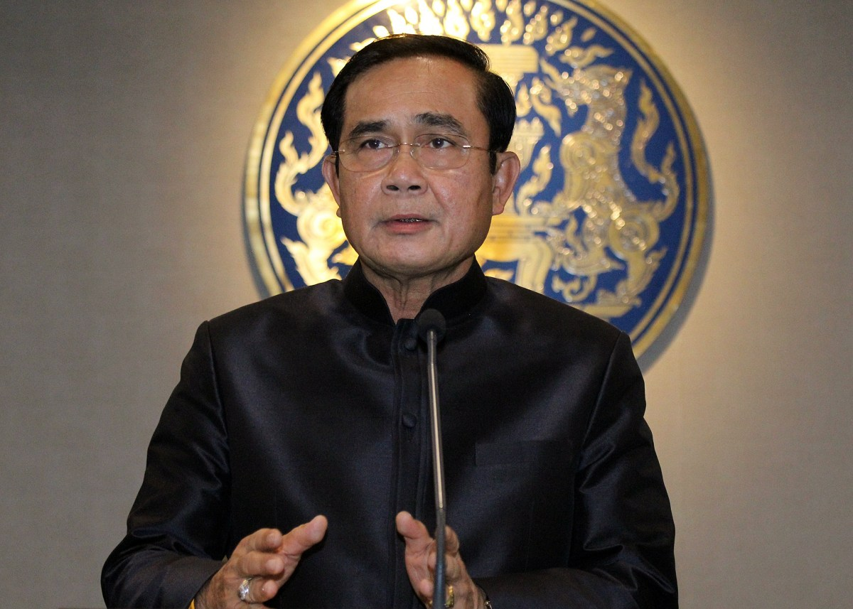 Thailand's Prime Minister Prayut Chan-ocha speaks to the media after a cabinet meeting in Bangkok on October 18, 2016. Photo: AFP/ DailyNews