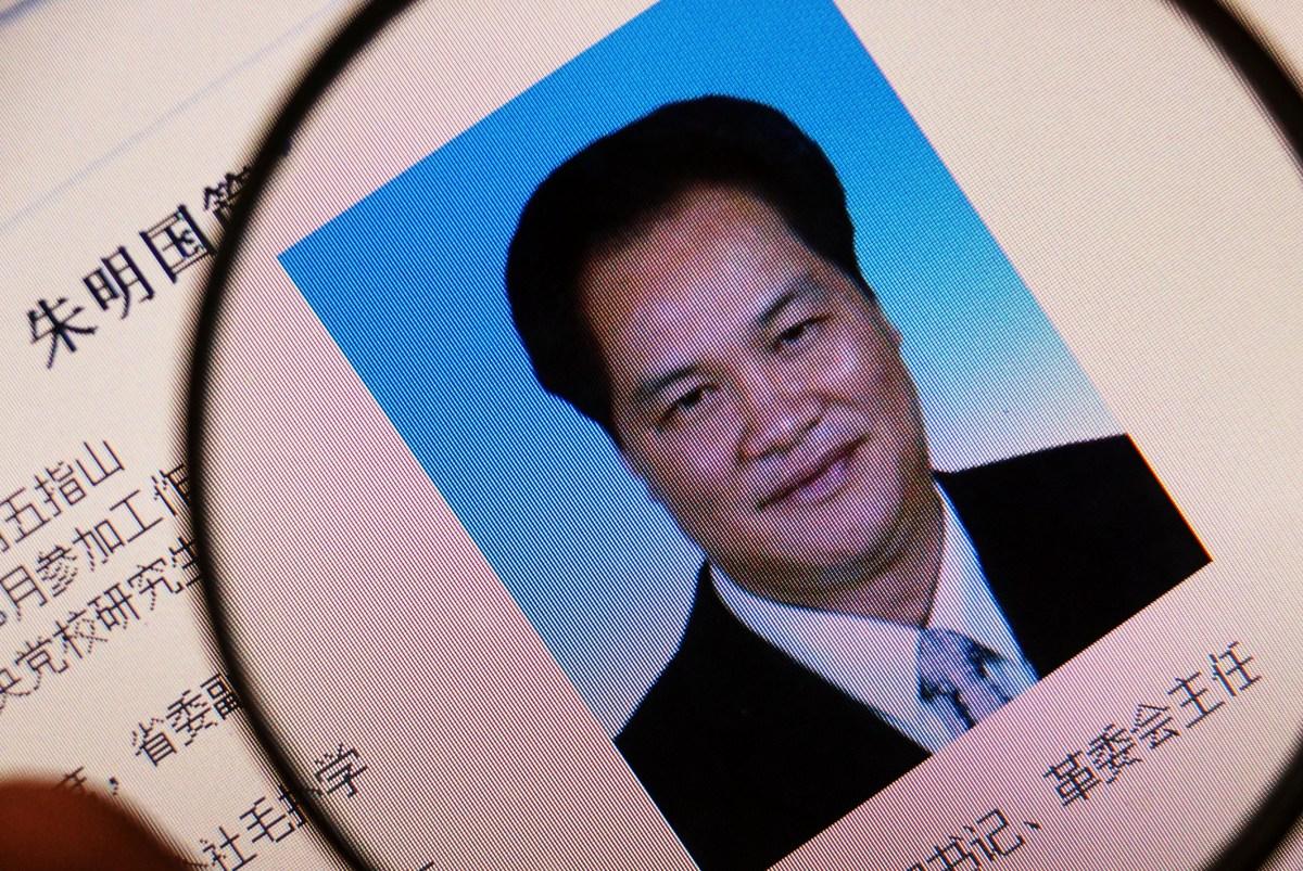 "Zhu Mingguo was convicted in 2015 of taking  ""massive bribes"". Photo: Imaginechina"