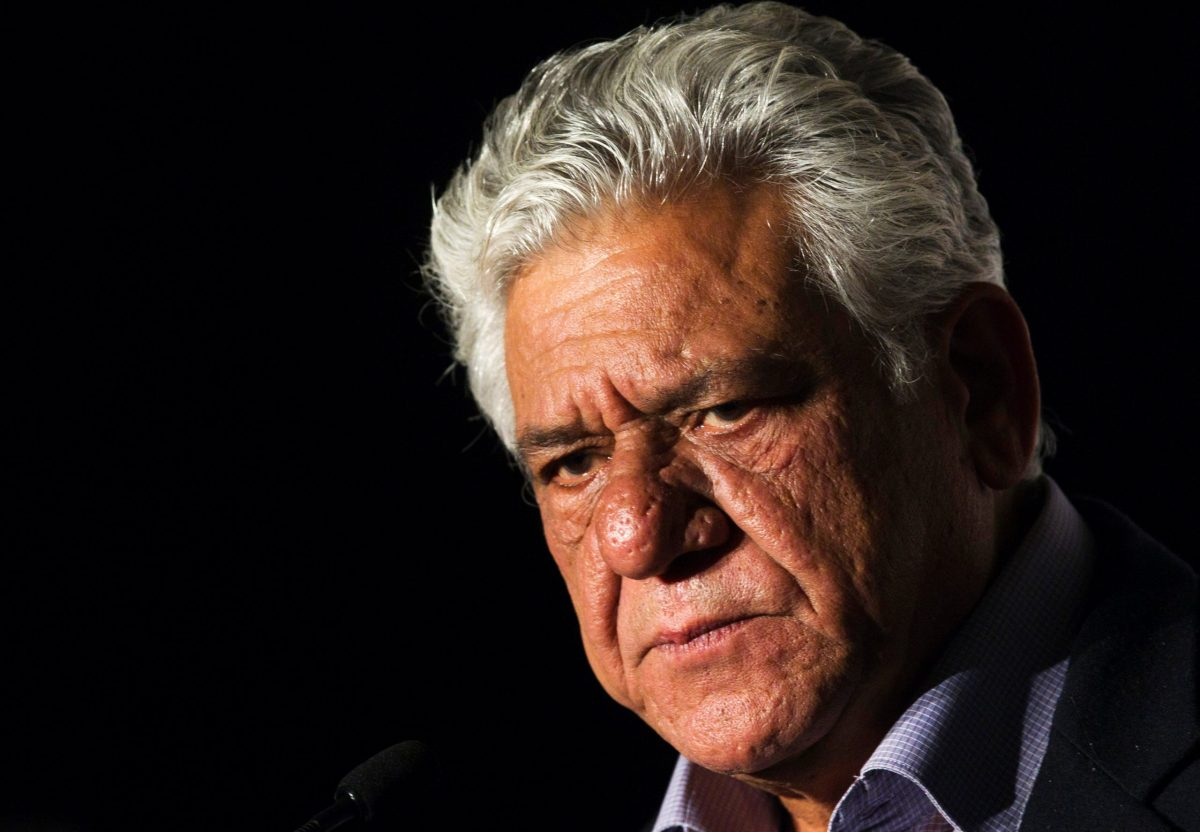 FILE PHOTO - Bollywood actor Om Puri speaks during a press conference announcing that Toronto will host the first ever Punjabi International Film Academy Awards (PIFAA) in Toronto, April 12, 2012.  REUTERS/Mark Blinch/File Photo     TPX IMAGES OF THE DAY