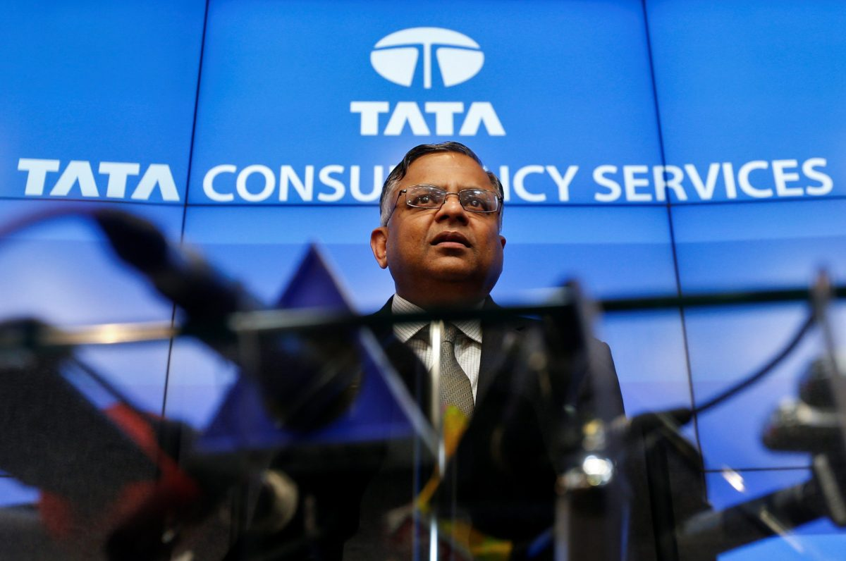 Tata Sons chairman-designate Natarajan Chandrasekaran speaks during a news conference in Mumbai, India January 12, 2017. Photo: Reuters/Danish Siddiqui
