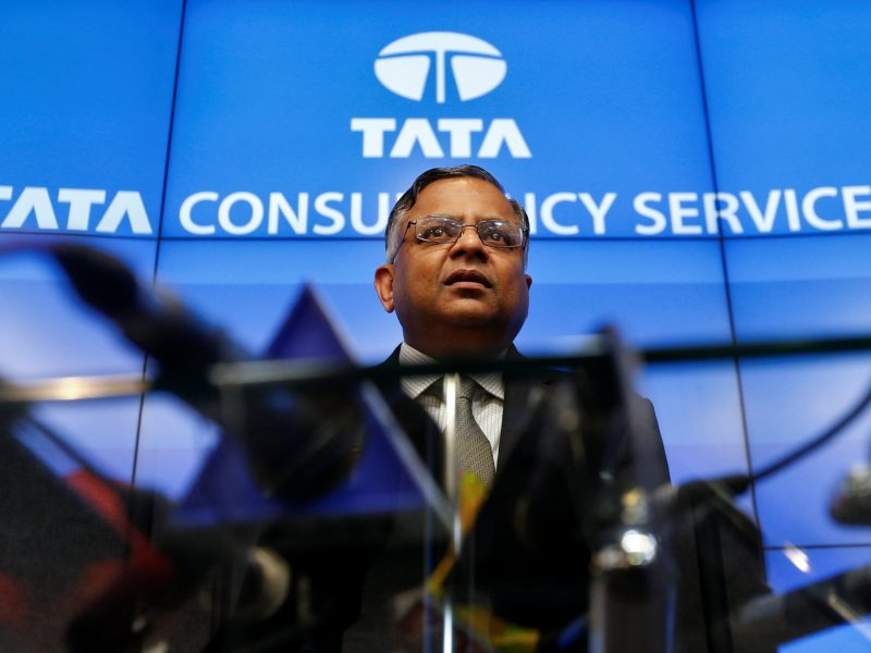 Tata Sons chairman-designate Natarajan Chandrasekaran speaks during a news conference in Mumbai, India January 12, 2017. Photo: Reuters/Danish Siddiqui