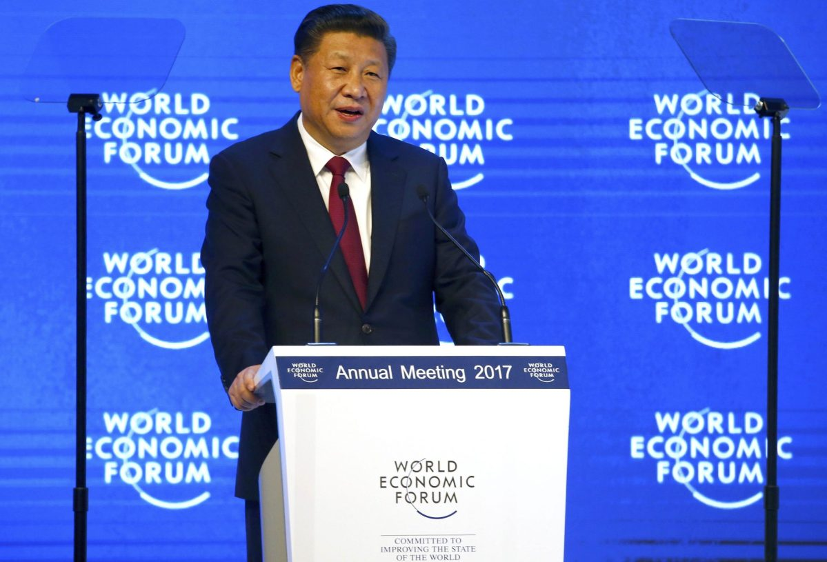 Chinese President Xi Jinping attends the World Economic Forum (WEF) annual meeting in Davos, Switzerland January 17, 2017.   REUTERS/Ruben Sprich TPX IMAGES OF THE DAY
