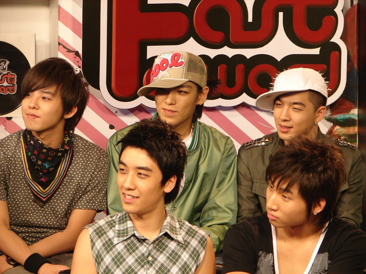 K-pop stars get heard. G-Dragon (back left), T.O.P, Taeyang, with Seungri (front left) and Daesung. Photo: Wikimedia Commons