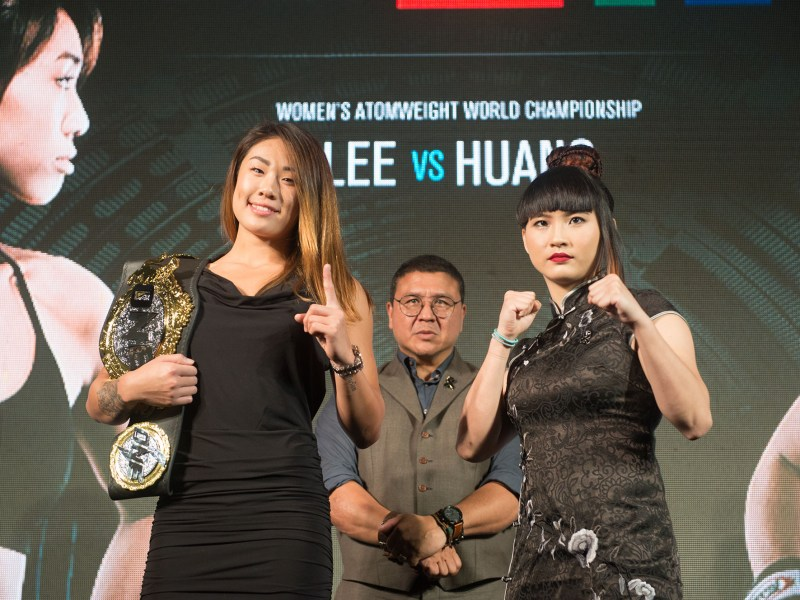 Ladies Night: Angela Lee gears up to defend her world title against Taiwan's Huang. Photo courtesy ONE Championship