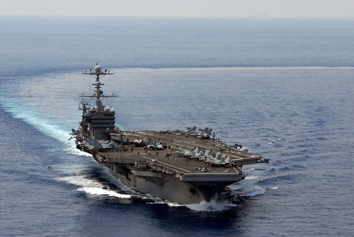 The Nimitz-class aircraft carrier USS George Washington in the South China Sea. Photo: US Navy via Flickr