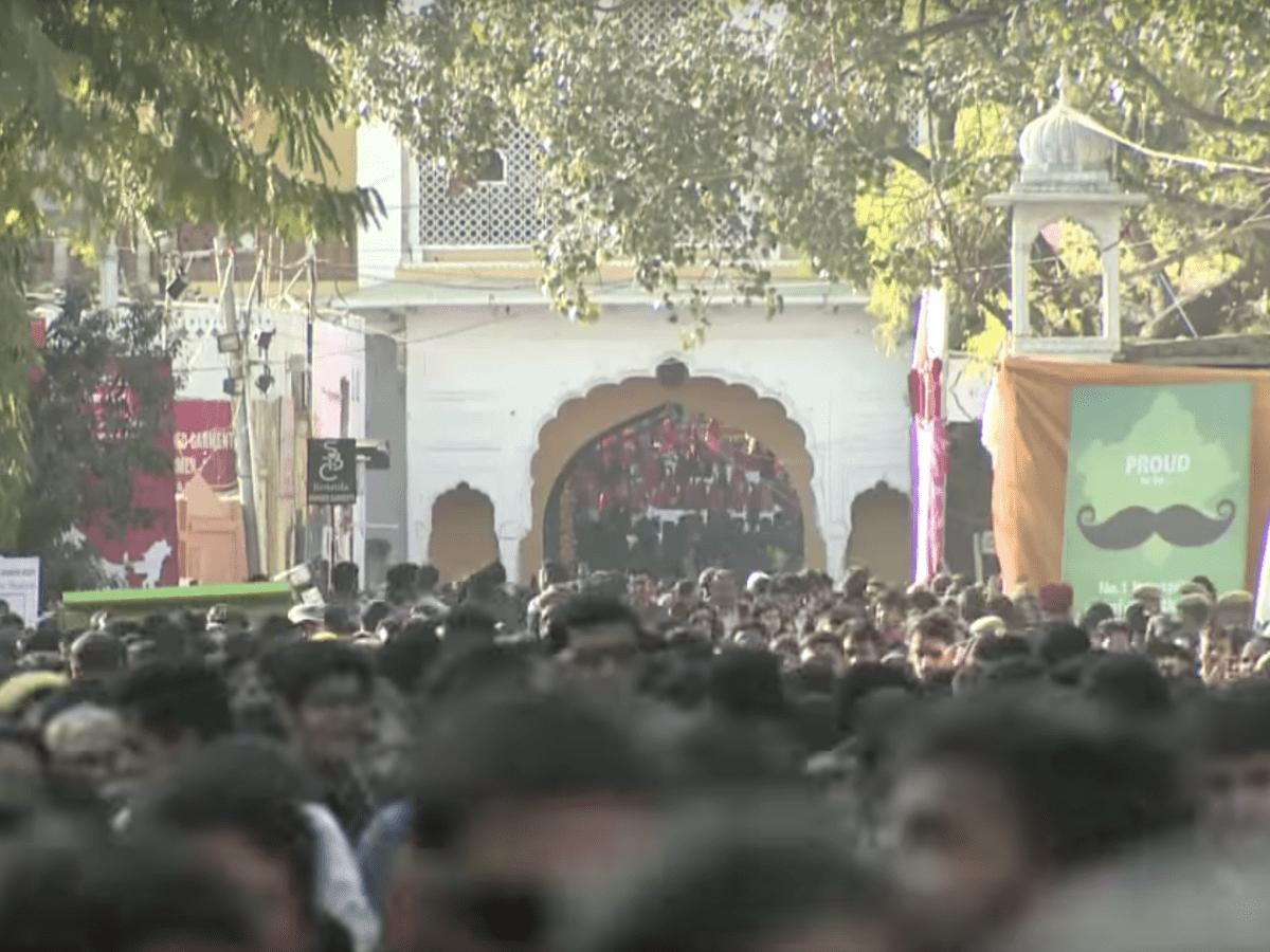 The Jaipur Literature Festival is 10. Photo via YouTube.