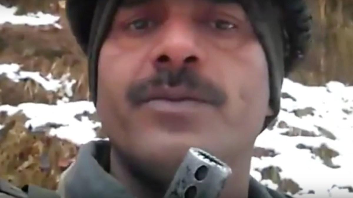 Tev Bahadur Yadav makes one of his videos.