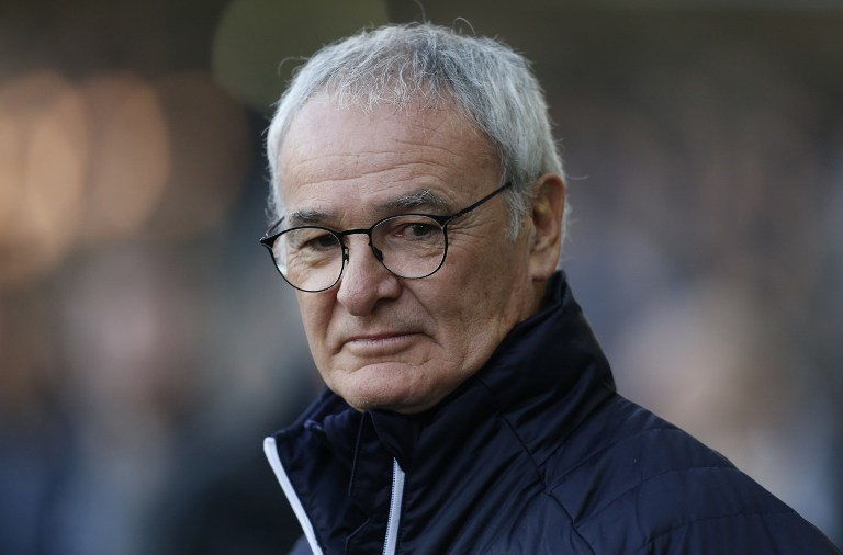 Leicester City's Italian manager Claudio Ranieri standing on the touchline during the English FA Cup fifth round football match between Millwall and Leicester City at The Den in south London. Claudio Ranieri has been sacked as manager of Leicester City just months after leading the club to the Premier League title, the Midlands side announced on February 23, 2017. / AFP PHOTO