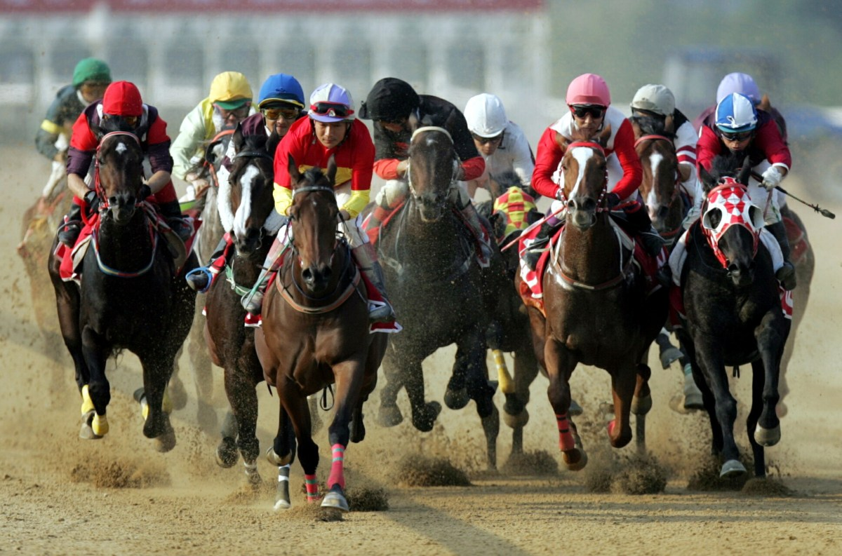 Jockeys compete in a race at the Orient Lucky City International Racecourse in Wuhan, Hubei province. Photo: ImagineChina