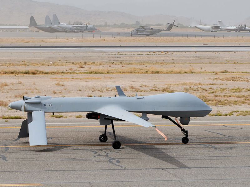 The MQ1 Predator drone returns from a mission. Photo: Wikimedia Commons