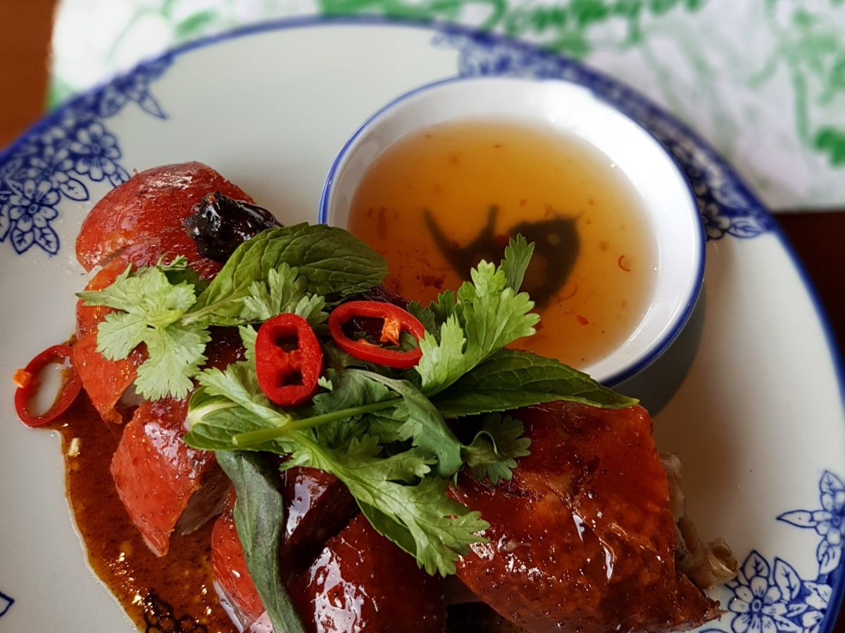 Roast duck on the bone. Photo: Owen Chua