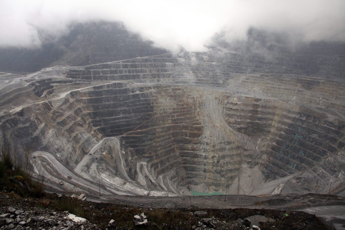 Freeport McMoRan's Grasberg mining complex, one of the world's biggest gold and copper mines located in Indonesia's remote eastern Papua province. Photo:  AFP / Olivia Rondonuwu