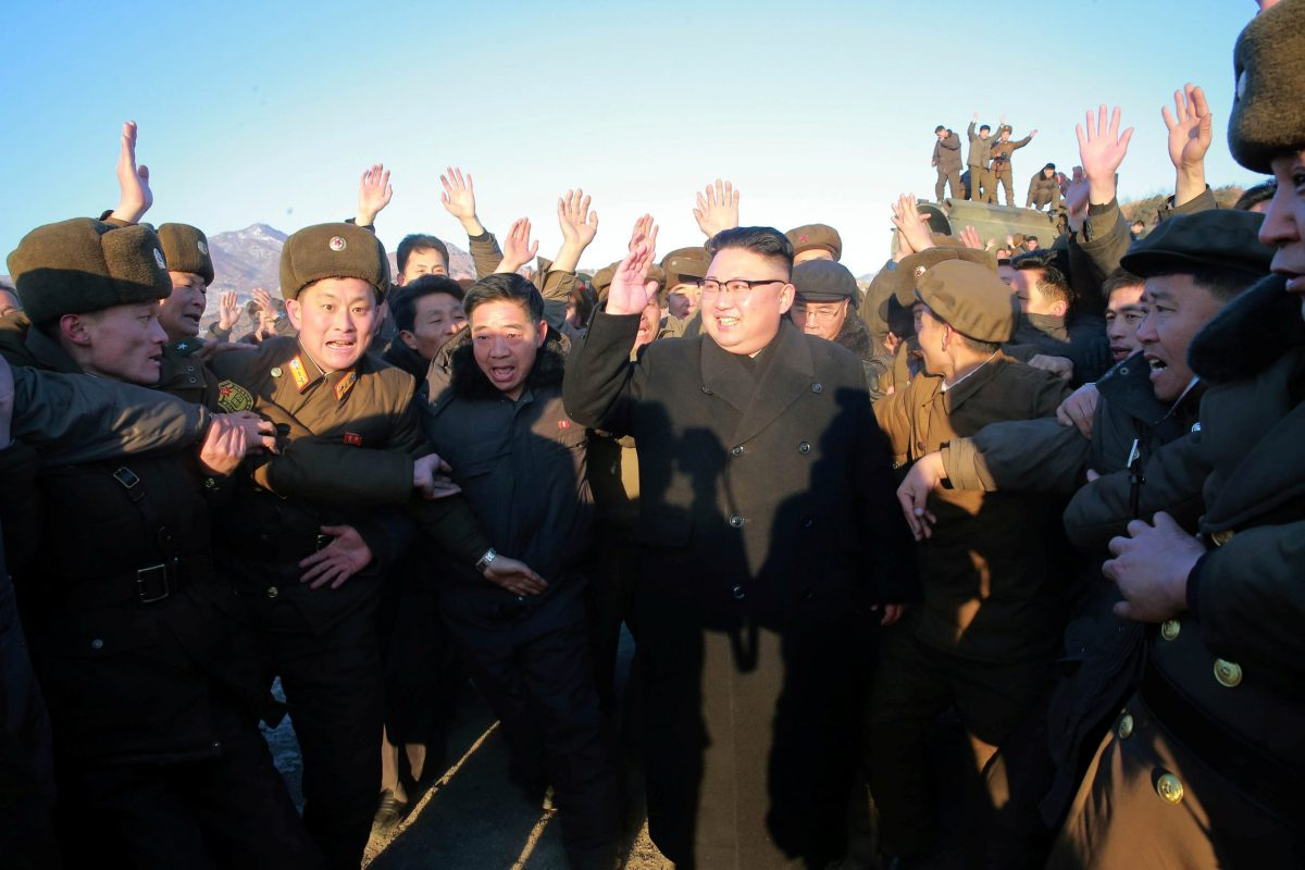 Sometimes a picture is worth a thousand missiles... North Korean leader Kim Jong Un needs to legitimize his rule. If not through state-to-state recognition and engagement with the world economy, then how? Photo: KCNA via Reuters