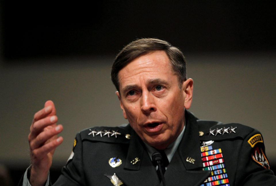 This file photo shows US General David Petraeus when he was commander of the international security assistance force and commander of US Forces in Afghanistan, testifying at a Senate Armed Services Committee hearing on the situation in Afghanistan in 2011. Photo: Reuters