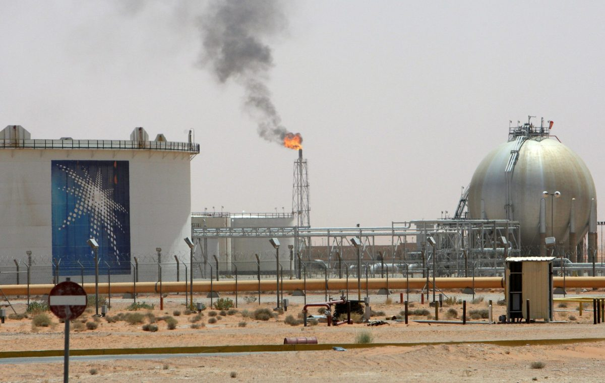 Aramco's Khurais oilfield in Saudi Arabia, 160 km from Riyadh. Photo: Ali Jarekji/Reuters