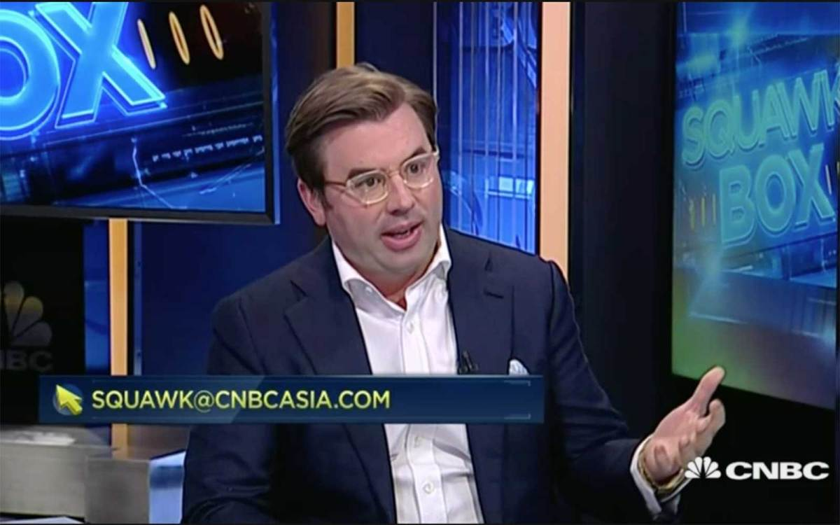 Capital Link International CEO Brett McGonegal on CNBC's Squawk Box. Photo: CNBC screen grab