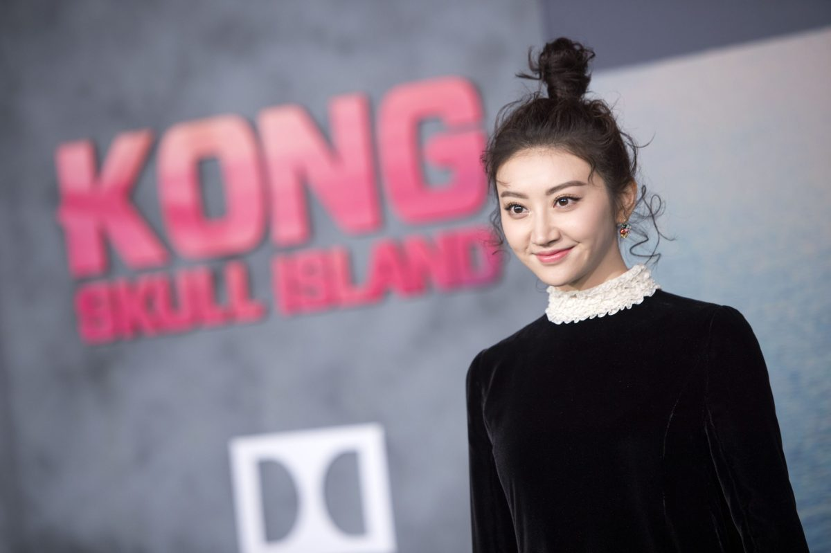 """Actress Tian Jing attends the Los Angeles premiere of Warner Bros """"Kong: Skull Island"""" on March 8, 2017. Photo: Agence France-Presse."""