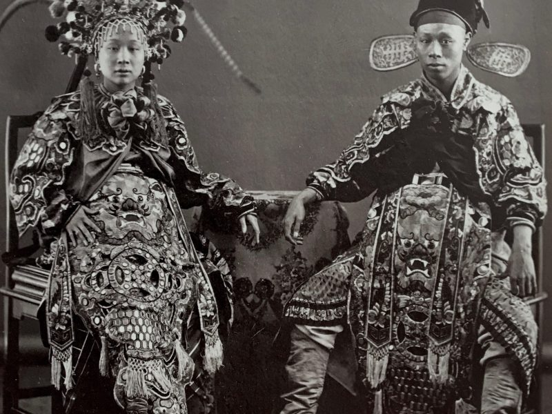 Lai Fong, Chinese Actress with Actor. c. 1870. Photo: Courtesy of the Stephan Loewentheil Historical Photography of China Collection