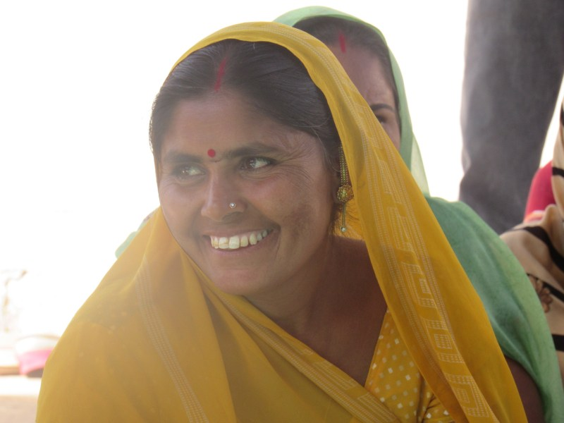 Female farmers in India benefit from Microfinance schemes in India. Photo: Thomson Reuters Foundation/Belinda Goldsmith