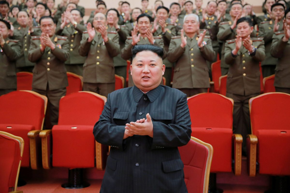 It's more than a long-shot, but if a $1 billion plan to kidnap Kim is adopted, Kim Jong-un's going to have to watch his back. Photo: KCNA via Reuters