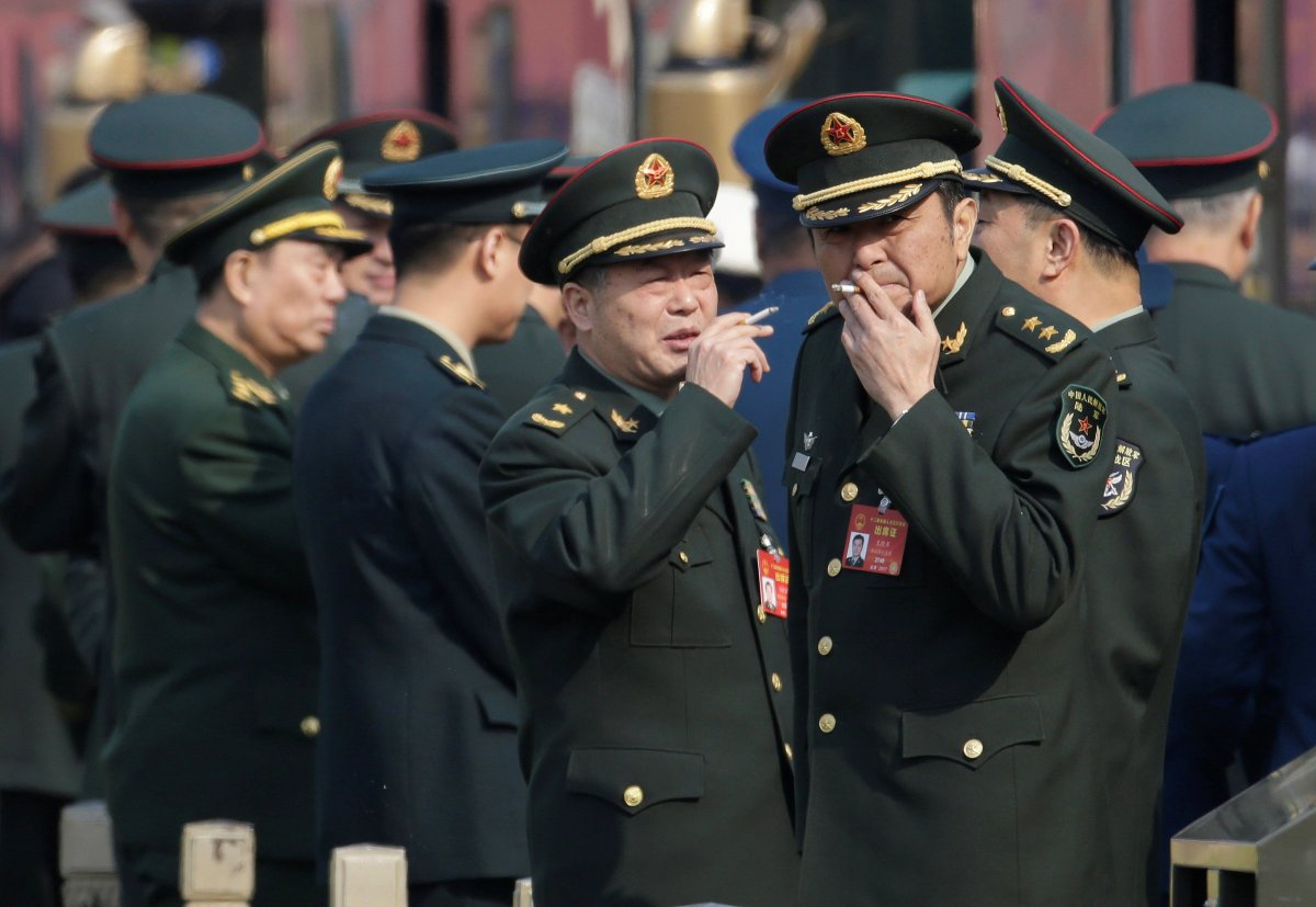 PLA delegates to the NPC may be fuming over the smallest rise in military spending since 2010 and in the face of continued aggressive rhetoric from the US. Photo: Reuters