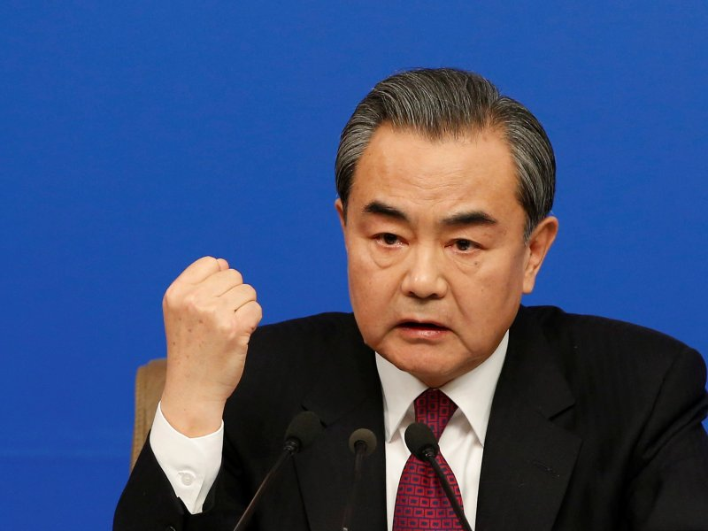 Chinese Foreign Minister Wang Yi. Photo: Reuters, Tyrone Siu
