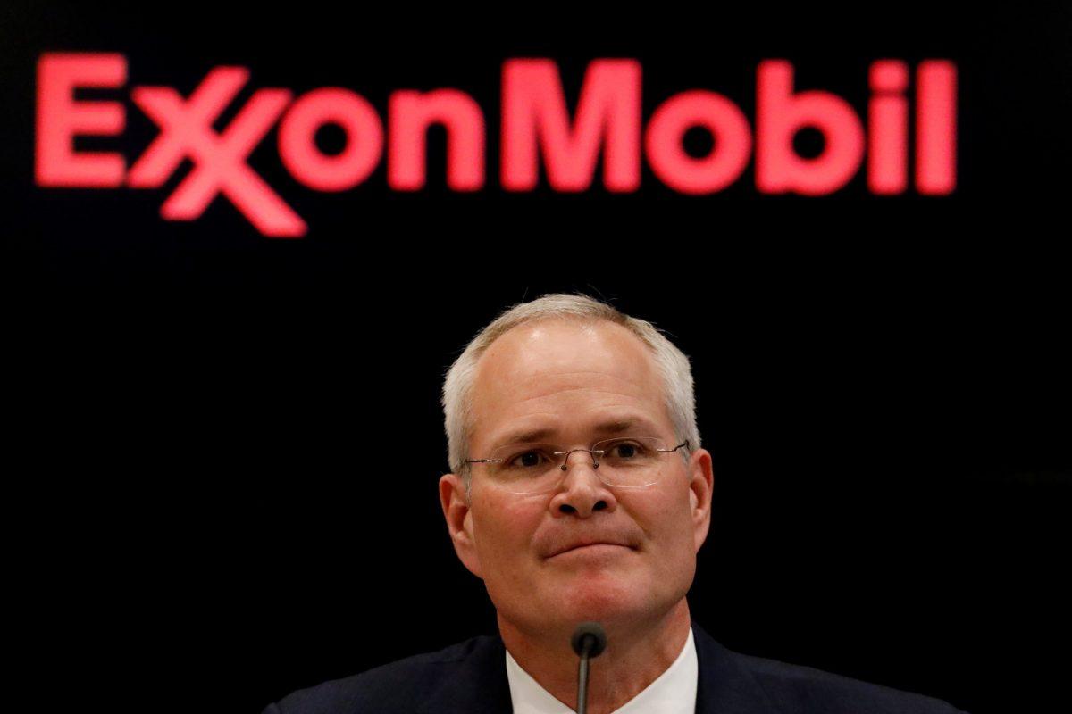 Darren Woods, CEO of Exxon Mobil. Photo: Reuters, Brendan McDermid