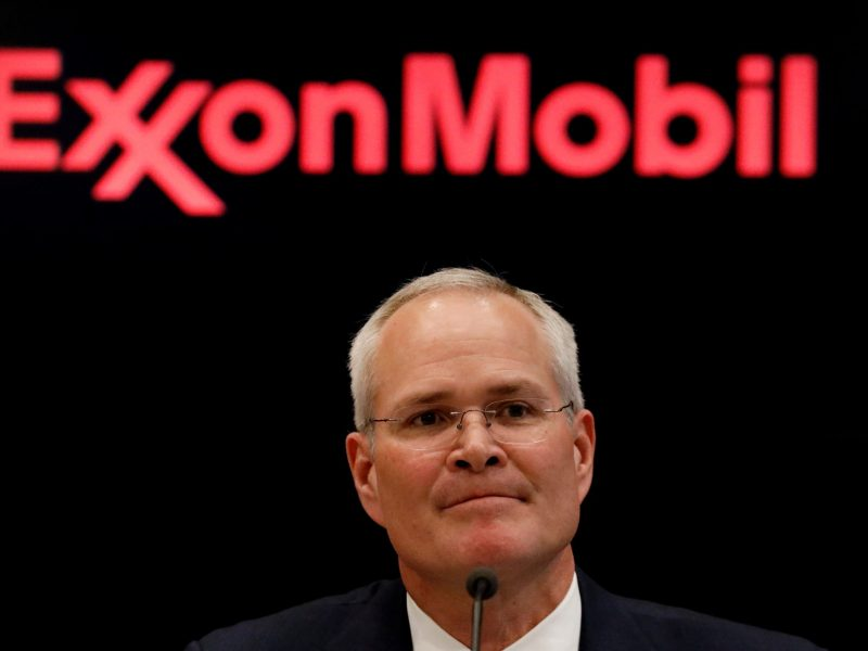Darren Woods, CEO of Exxon Mobil. Photo: Reuters, Brendan McDermid