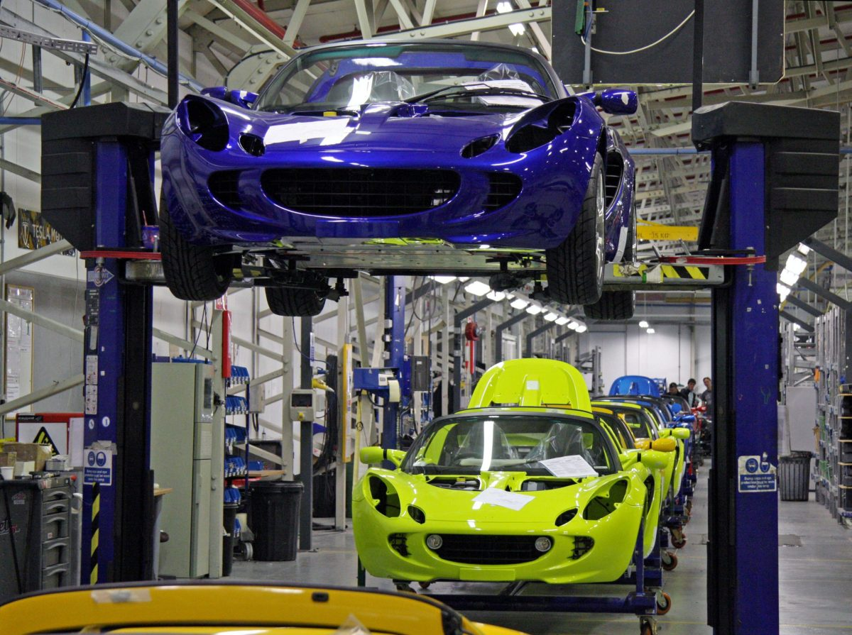 Final assembly of Lotus Cars. Photo: Flickr/Brian Snelson