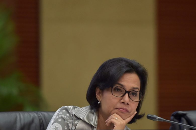 Indonesia Finance Minister Sri Mulyani Indrawati gestures during a meeting at the Finance Ministry office in Jakarta, Indonesia, January 3, 2017  in this photo taken by Antara Foto.  Antara Foto/Rosa Panggabean/ via REUTERS   ATTENTION EDITORS - THIS IMAGE WAS PROVIDED BY A THIRD PARTY. FOR EDITORIAL USE ONLY. MANDATORY CREDIT. INDONESIA OUT. - RTX2XC1W