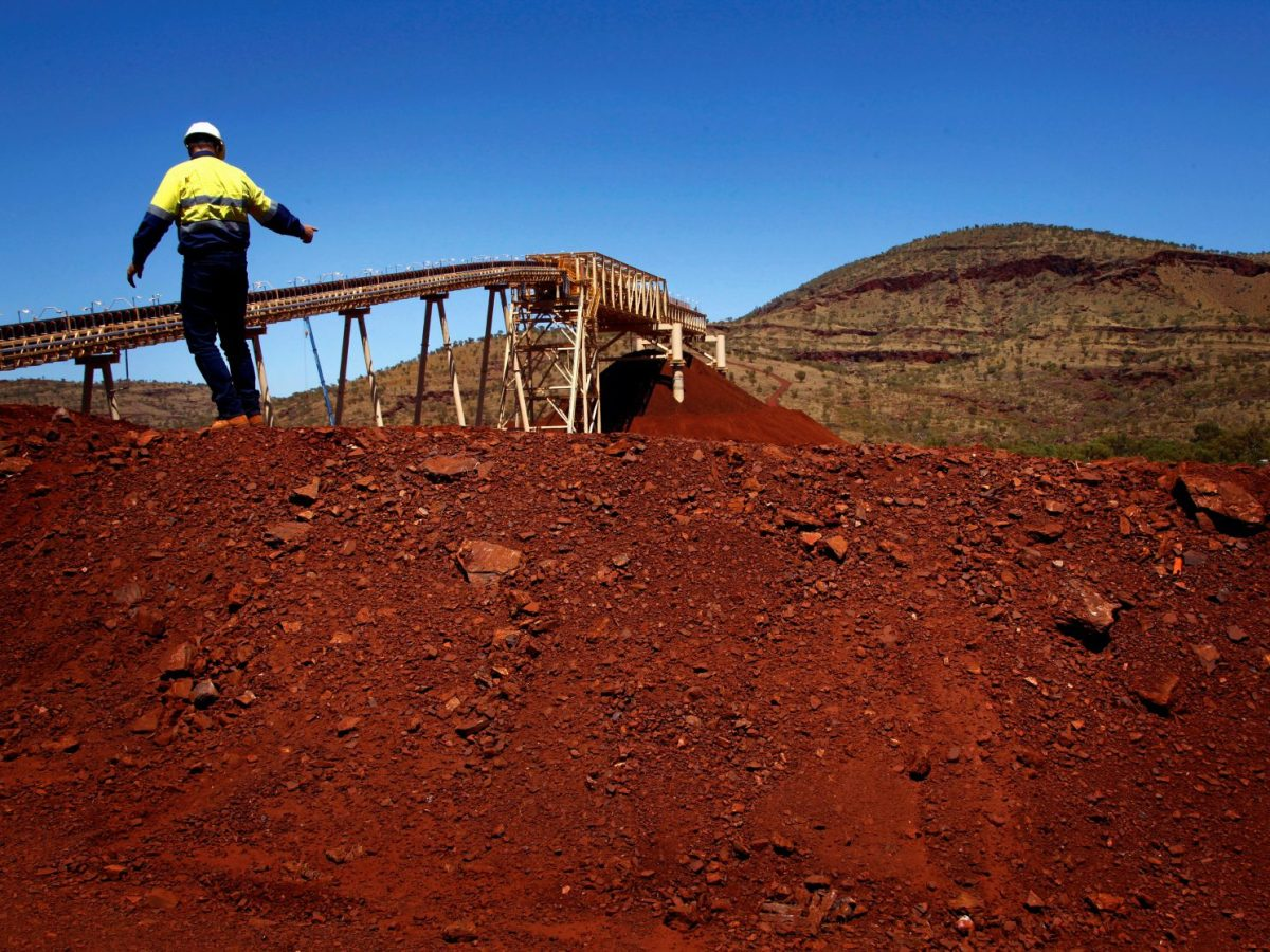 A file pic from 2013 shows a Fortescue executive at the Solomon iron ore mine in the Pilbara region in Western Australia. Photo: Reuters/David Gray