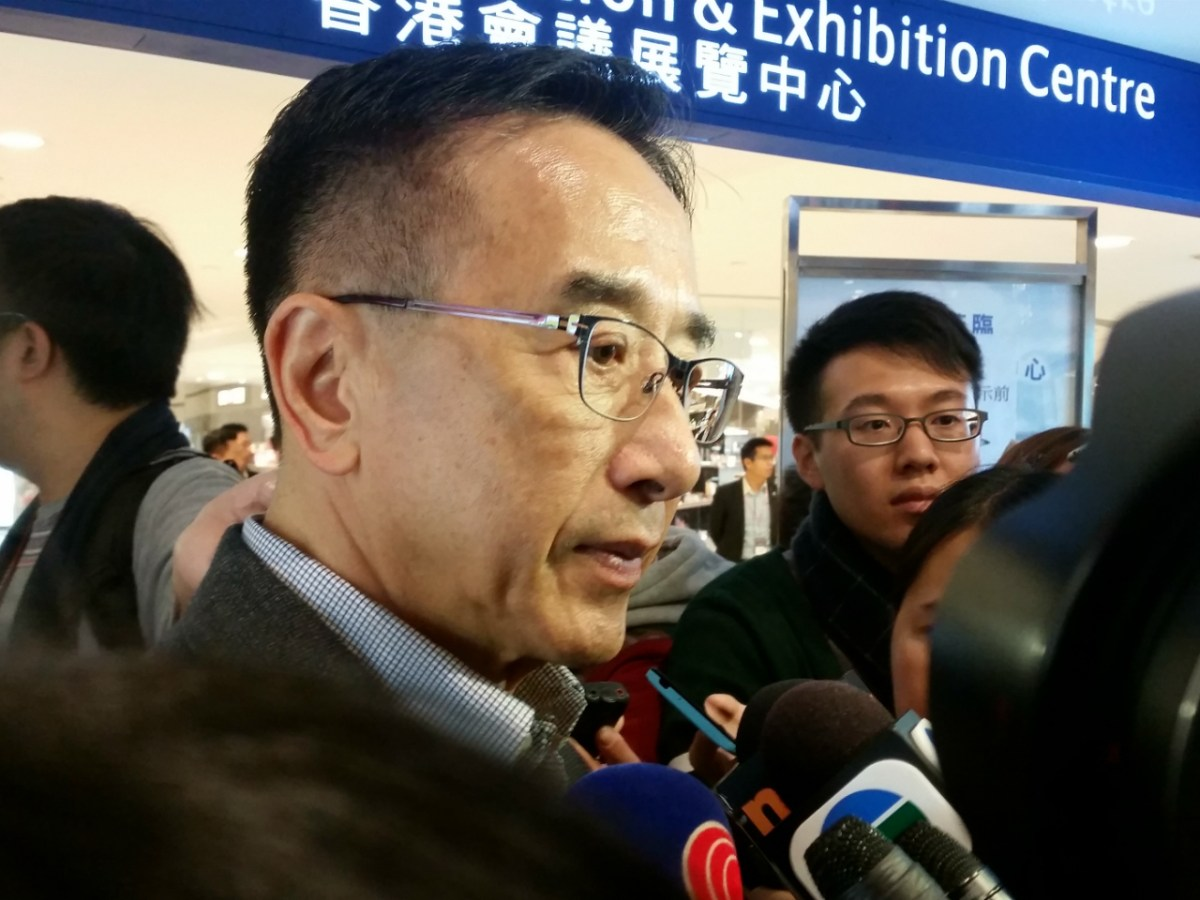 Former Liberal Party chairman James Tien said some Hong Kong businessmen had turned to vote for Carrie Lam from John Tsang. Photo: Asia Times